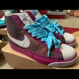 Pink, Copper, Grey, & Blue Nike Blazers